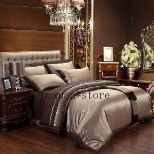 Silk-Jacquard-Cotton-Bedding-Sets-Bedclothes-Queen-King-6-Pcs-Cover-Linen-Sheet