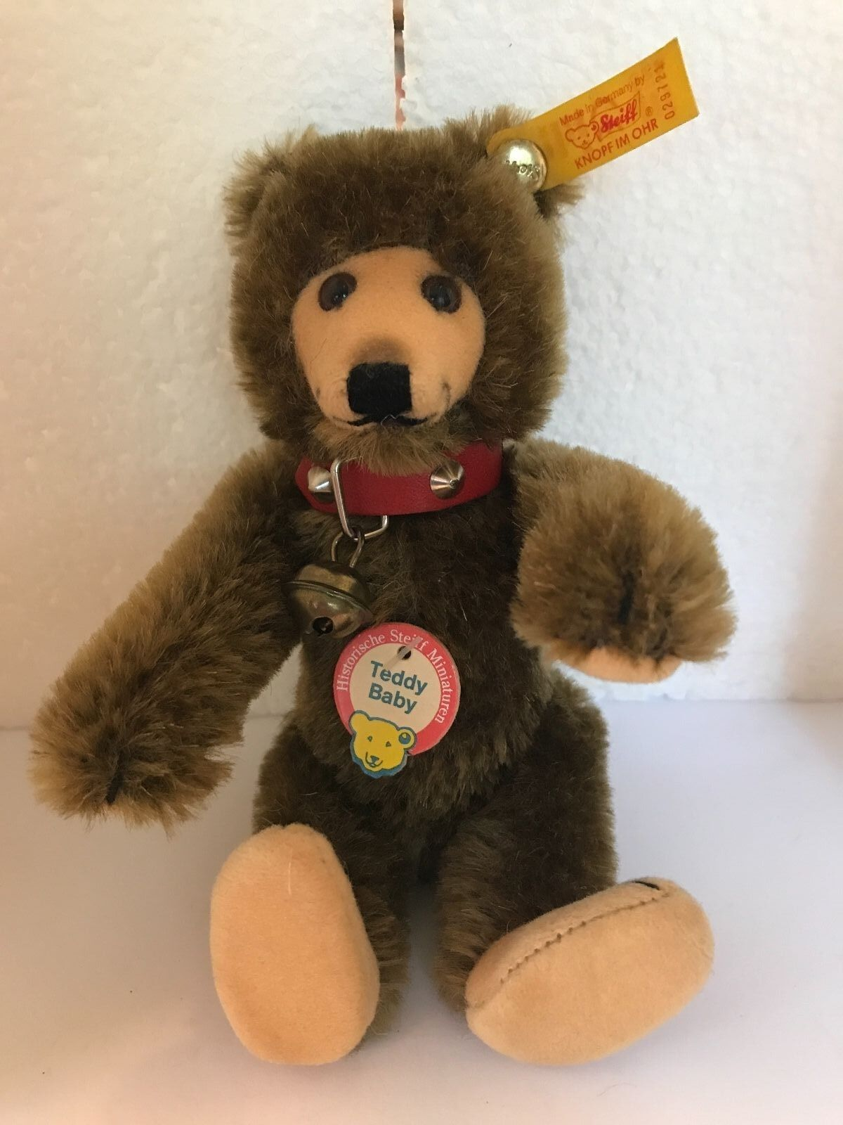 ️STEIFF TEDDY bambino orso  HISTORIC MINIATURE  029721  1992-98   Marronee 6  ️