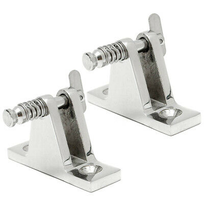 2Pk Deck Hinge Boats Bimini Top Fitting 90 Degree Pin Stainless Steel Boat Parts