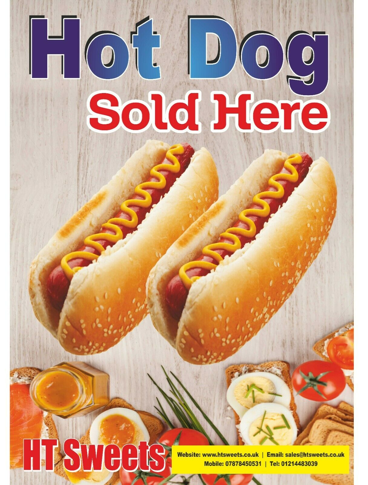 Hot Dog Poster x 1
