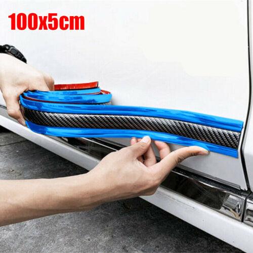 Universal Auto Tür Zierleiste Streifen Schutz Schutzleiste Kohlefaser Blau