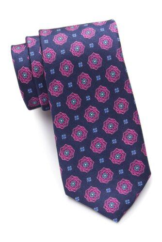 Ted Baker London men/'s Pink Blooming Flower Silk tie MSRP $95