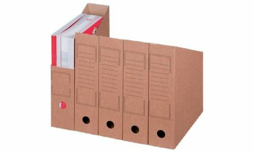 20x smartboxpro Archiv-Stehsammler DIN A4 braun Stehsammler Karton