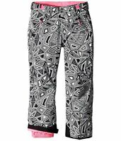The North Face Girls Freedom Graphite Grey Black Print Snow Pants S 7 8 Or Xl 18