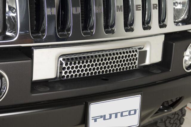 New PUTCO Chrome Trim Front Bumper Vent Strip / FITS 2003-2009 HUMMER H2
