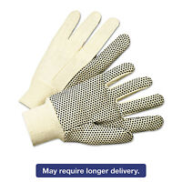 Anchor Brand Pvc-dotted Canvas Gloves White One Size Fits All 12 Pairs 1000 on Sale