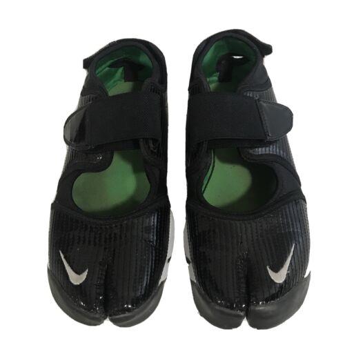 2009 WMNS Nike Air Rift OG SZ 8 Split Toe Black Hy