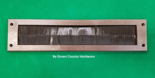 Letterbox Draught Seal in Brown 338mm x 80mm with Brushes EASYFIX