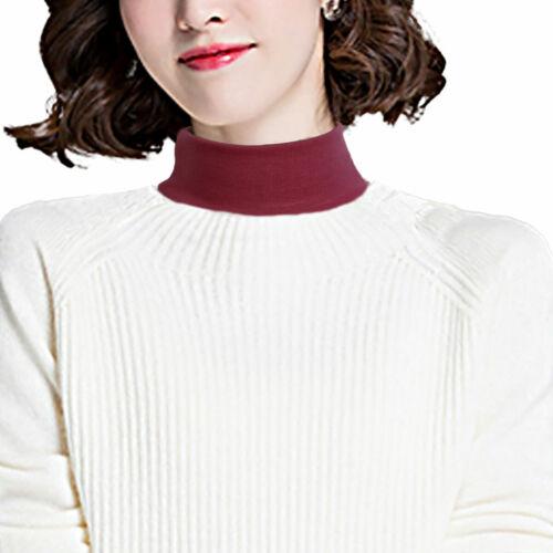 Women /& Men Faux Turtleneck Neck Dickey False Mock Blouse Half Top False Collar