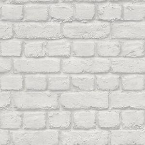 GRIS-CLARO-Ladrillo-Pared-Efecto-Papel-Pintado-Rasch-226713-NUEVO
