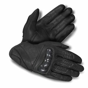 Motorbike-Motorcycle-Leather-Short-Gloves-Natural-Cowhide-premium-A-Grade