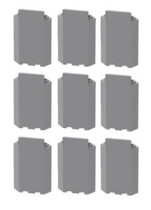 Lego 10 Light Bluish Gray 3x3x6 Corner Wall Panel Without Bottom Indentations