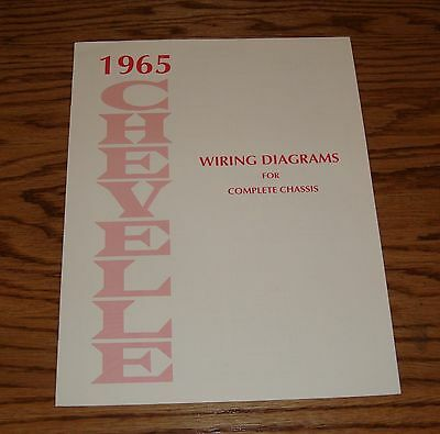 1965 Chevrolet Chevelle Wiring Diagram Manual for Complete ...