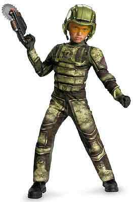 Foot Soldier Military Army Camo Halo Fancy Dress Halloween Deluxe Child Costume