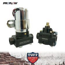 Proflow Pro Series Electric Fuel Pump & Pressure Regulator 110GPH Chrome Black