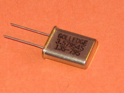 Hart Arbeitend 3.579545mhz Golledge Crystal Hc49/u Package Qty = 1