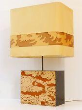 CHIC & IMPORTANTE LAMPE D'AMBIANCE PIED EN LIEGE 1970 VINTAGE 70's CORK LAMP