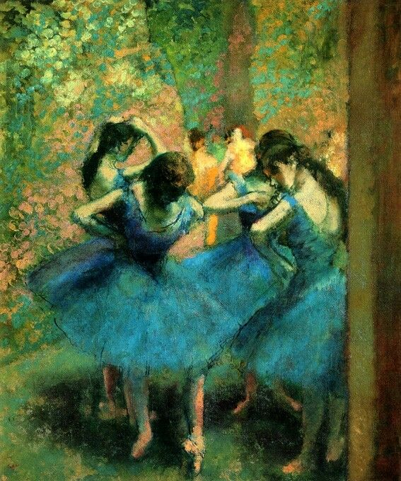 Blau DRESS DANCERS BALLET Kunst DANCE BALLERINA 1893 PAINTING BY EDGAR DEGAS REPRO