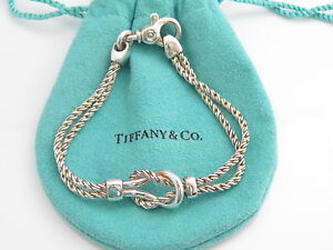 Image Is Loading Tiffany Amp Co Silver Double Rope Love Knot