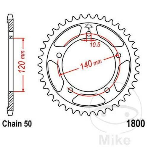 JT Rear Sprocket 42T 530P JTR1800.42 Steel Suzuki SV 1000 S2 2005