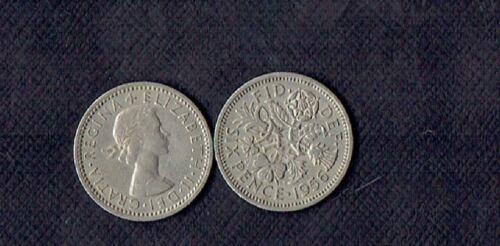 """Great Britain *Wedding Sixpence /""""Something Old Something New/"""" s//h .99 1956 UK"""