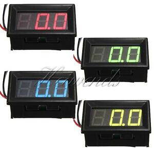 0-56-3-Wire-LED-Voltmeter-Car-Digital-Display-Panel-Volt-Meter-DC-0-10-30-200V