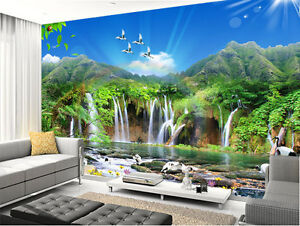 Image Is Loading Romantic Plitvice Lake Waterfall Full Wall Mural Photo  Part 46