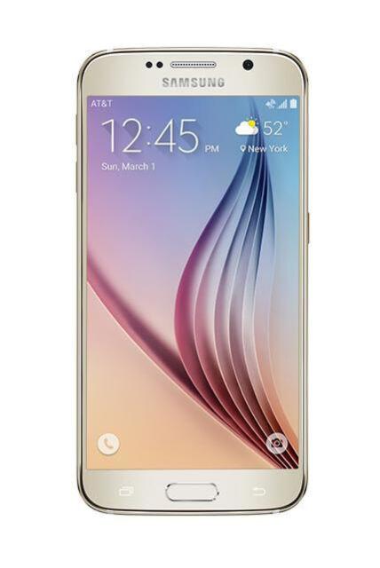 New Samsung Galaxy S6 SM-G920A - 32 GB - Gold Platinum (AT&T) Smartphone
