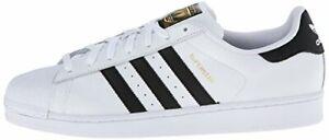 Dettagli su Adidas Originals Uomo Superstar Moda Sneaker BiancoNero Misura 19 M USA