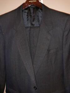 BARTOLINI-2PC-2BTN-Men-039-s-Black-Suit-Size-40R-Pants-33-30-100-Wool