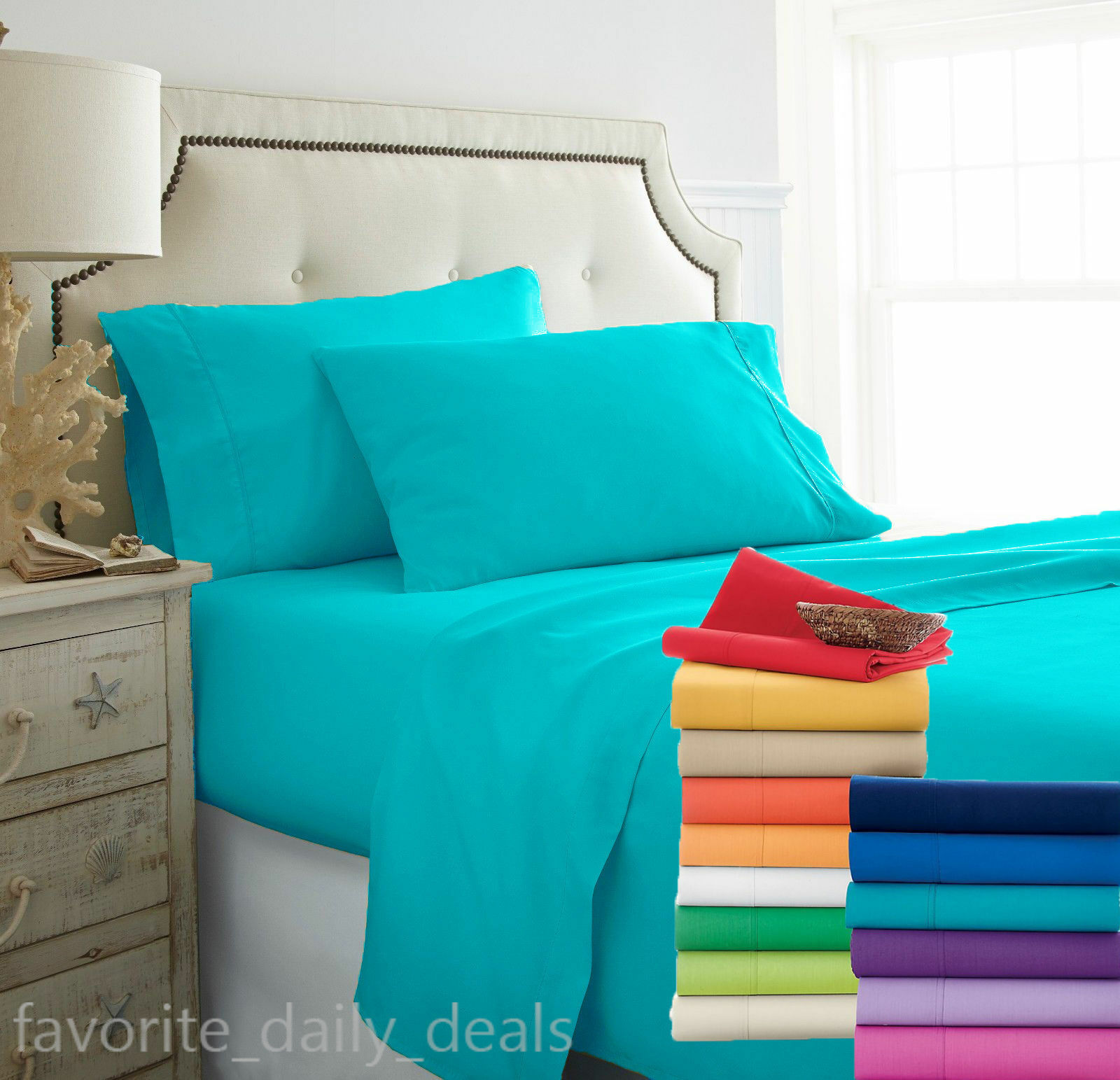 All US Size New Luxurious Bedding Item 1000 TC Egyptian Cotton Solid colors