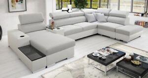 Eck Sofa Couchgarnitur Wohnlandschaft Mit Schlaffunktion Bettkasten
