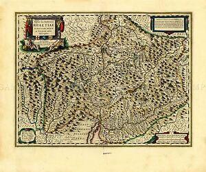 MAP ANTIQUE BLAEU THEATRE DU MONDE JULICH-BERG LARGE REPRO POSTER PRINT PAM0656