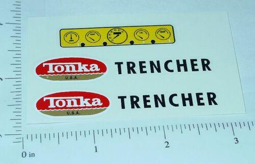 Tonka Trencher Construction Vehicle Sticker Set  TK-037