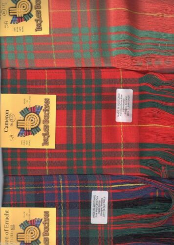 Tartan Sash Clan Cameron Ladies Scottish Wool Plaid