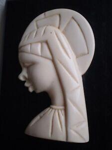 Vergine-Maria-Icona-Religioso-Antica-Legno-Sculpte-Decorativo-Christ-San-Statua
