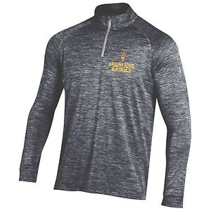 5fc56fa3 Details about (SMALL) Under Armour Mens Arizona State Sun Devils ASU 1/4  Zip Tech Shirt Jacket