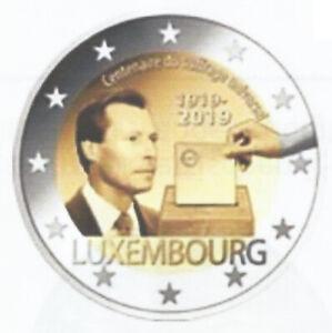 LUXEMBURG-II-2019-2-euro-100-jaar-Algemeen-Stemrecht-Suffrage-UNC