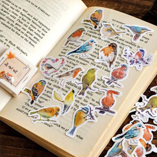 45Pcs Cartoon Robin Birds Adhesive Sticker DIY Diary Albums Scrapbooking Sticker