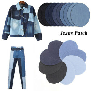Elbow Fabri 4X//12X  Jeans Iron-on Patches Clothes Repair Pants Knee Apparel
