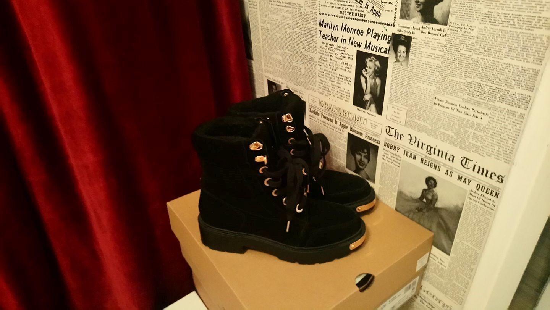 Damen Winter Schnür Stiefel Schuhe Stiefel mit Kunstfell in Leder warm gefüttert