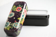 BENTO violet Lunch box  Japonaise fleurie motif tissu de kimono 2 compartiments