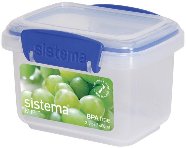 Sistema 0.4 L Rectangular Plastic Food Storage Tupperware Box BPA Lead Free