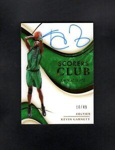 2019 Panini Immaculate KEVIN GARNETT /49 Scorer's Club NM/MT (OR BETTER)
