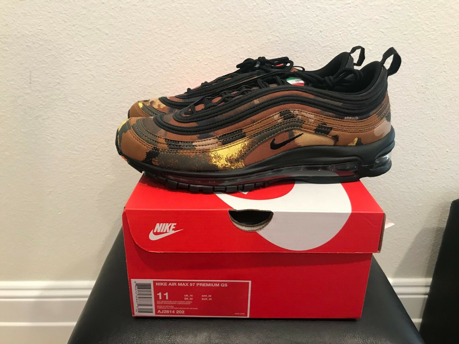 Brand New DS Nike Air Max 97  Camo Pack QS AJ2614 202 SZ 11
