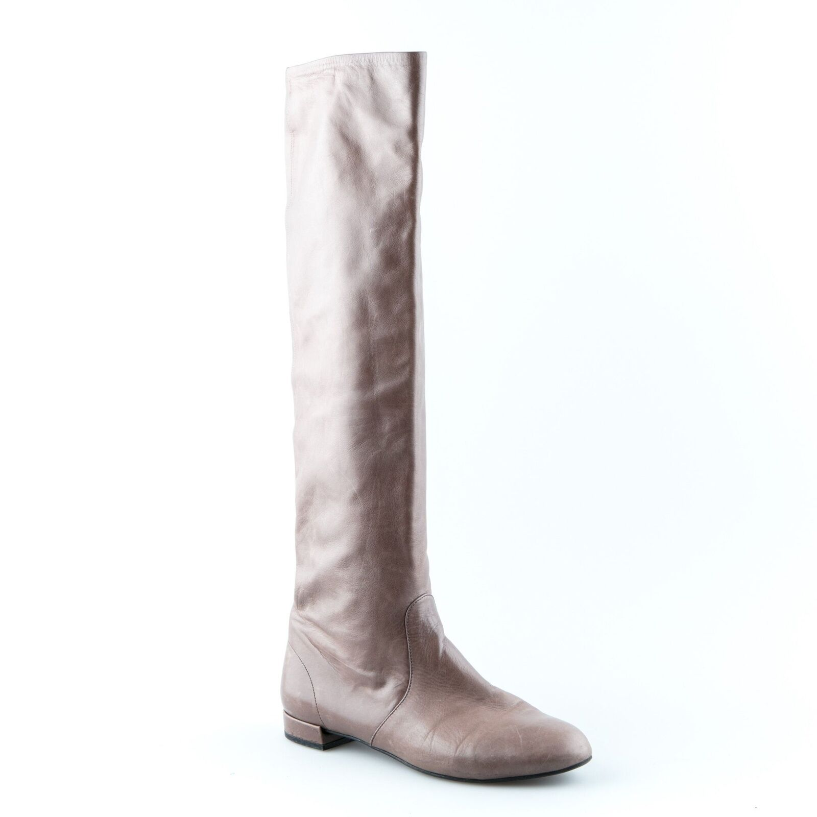 Prada Brown Leather Knee High Boots - - - Size 38 6fb1fa