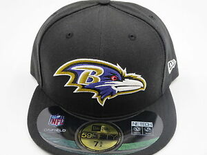 Image is loading New-Era-Baltimore-Ravens-NFL-Authentic-59Fifty-Black- f65e0b4d3