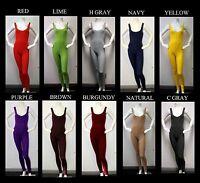 Plus Size Soft Cotton Lycra Sleeveless Unitard Bodysuit. From Xl , 2xl , 3xl