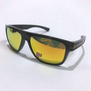 Oakley Sunglasses * Breadbox 9199-28 Dark Grey Fire Iridium Polarized COD PayPal