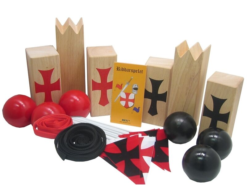 KUBB Jeu de plein air Tournoi des chevaliers, Outdoor game Tournament of knights